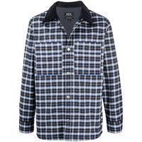 A.P.C. giacca-camicia con stampa - blu