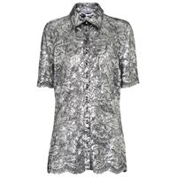 Paco Rabanne camicia in pizzo lamã©