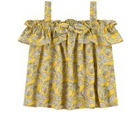 Mayoral - bambina - cold shoulder top color senape - 3 anni - giallo