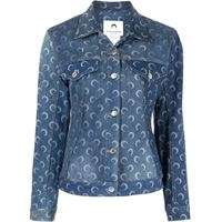 Marine Serre gonna denim - blu