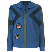 Mr & Mrs Italy patched zipped cardigan - blu