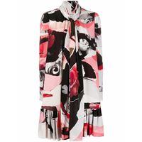 ALEXANDER MCQUEEN vestito donna 584379qcaac5010 seta rosa