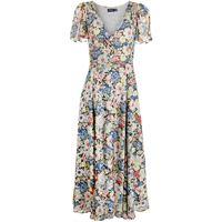 Polo Ralph Lauren abito lungo a fiori - toni neutri