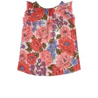 Zimmermann bambino - top floreale rosa - bambina - 10 anni - blu