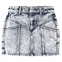 Les Coyotes De Paris bambino - tanja acid denim gonna blu - bambina - 14 anni - blu