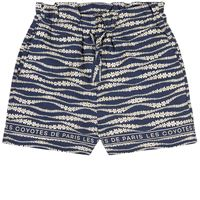 Les Coyotes De Paris bambini - bambina - tropea floral waves print pantaloncino blu - 16 anni - blu
