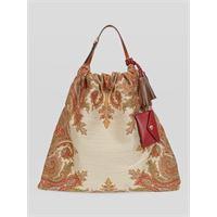 Etro borsa shopping paisley, donna, beige