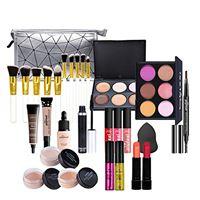 LEAMALLS 28 pezzi trousse di trucchi makeup palette ombretti cosmetics tavolozza trucco set professionale valigia valigetta regalo accessori e strumenti per il trucco