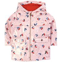 Carrément Beau - impermeabile stampato rosa pallido - bambina - 9 mesi - rosa