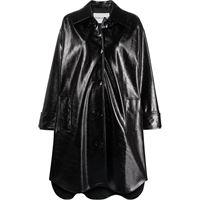 STAND STUDIO giacca oversize con effetto stropicciato - nero