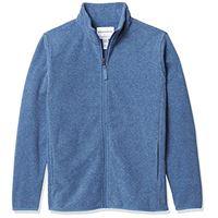 Amazon Essentials polar fleece full-zip mock jackets outerwear, cobalt camo, m