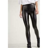 Tezenis leggings termici in similpelle donna nero