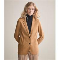 Falconeri giacca jersey cashmere rever marrone