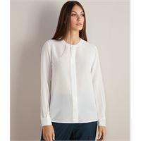 Falconeri camicia girocollo in seta bianco