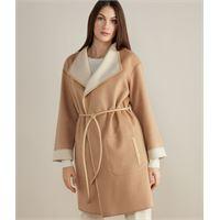 Falconeri cappotto in cashmere reversibile naturale