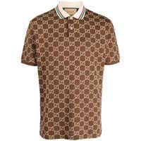 Gucci polo gg supreme - marrone