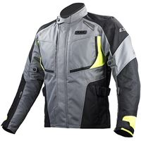 LS2 giacca moto phase man jacket grey black yellow | LS2