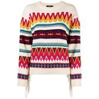 TWINSET maglione a righe - toni neutri
