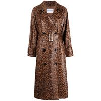 STAND STUDIO trench shelby con stampa - marrone