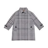 Burberry Kids giacca reversibile a quadri in cotone