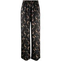 Paco Rabanne pantaloni a fiori donna