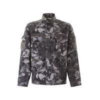 MARCELO BURLON giubbino camouflage s grigio, nero cotone