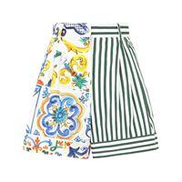 Dolce & Gabbana shorts con stampa patchwork - bianco