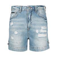 Philipp Plein shorts denim iconic pins - blu