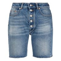 MM6 Maison Margiela shorts a vita media - blu