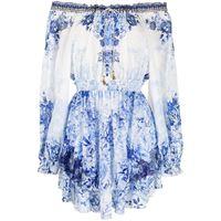 Camilla vestito a righe - bianco