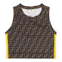 Fendi Kids top cropped in jersey stretch