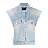 3x1 giacca denim smanicata - blu