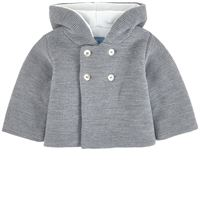 Jacadi - knit cardigan con cappuccio grigio - bambino - 1 mese - grigio