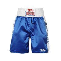Lonsdale londsdale, pantaloncini da boxe uomo con logo uomo, blu (blue/white), xl