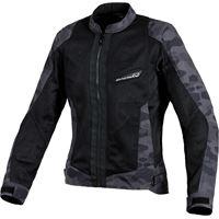 Macna giacca moto donna touring estiva Macna velocity nero camo