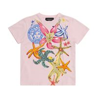 Versace Kids t-shirt a stampa in cotone