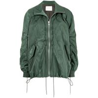 Dion Lee giacca a vento woodgrain - verde