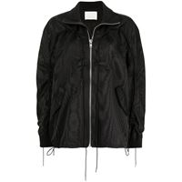 Dion Lee giacca a vento woodgrain - nero