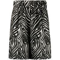 Alberto Biani shorts con stampa - nero