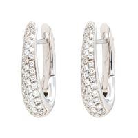 Crivelli orecchini cerchio ovali oro diamanti crivelli