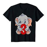 Zoo Animal Birthday Designs by Raleigh bambino 3 ° compleanno camicia elefante 3 anni vecchio animale maglietta