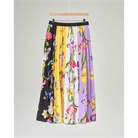 Elsy gonna plissè multicolor in fantasia floreale 36-38