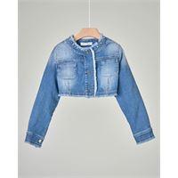 Elsy giacca corta in denim stretch con taschine 5-8 anni