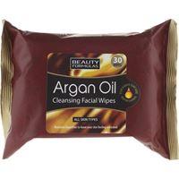 Beauty Formulas salviette struccanti viso - Beauty Formulas argan oil cleansing facial wipes 30 pz.