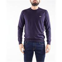 LACOSTE maglione girocollo in lana rasata lacoste