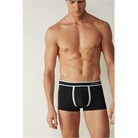 Intimissimi boxer in cotone supima® elasticizzato bicolour nero