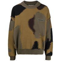 Palm Angels maglione con stampa camouflage - marrone