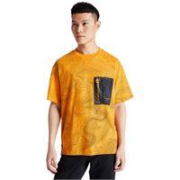 Timberland t-shirt da uomo con tasca ecoriginal in giallo giallo, size l
