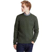 Timberland maglione da uomo a trecce phillips brook in verde verde, size 3xl