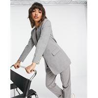 Y.A.S - blazer sartoriale lungo grigio a quadri-multicolore